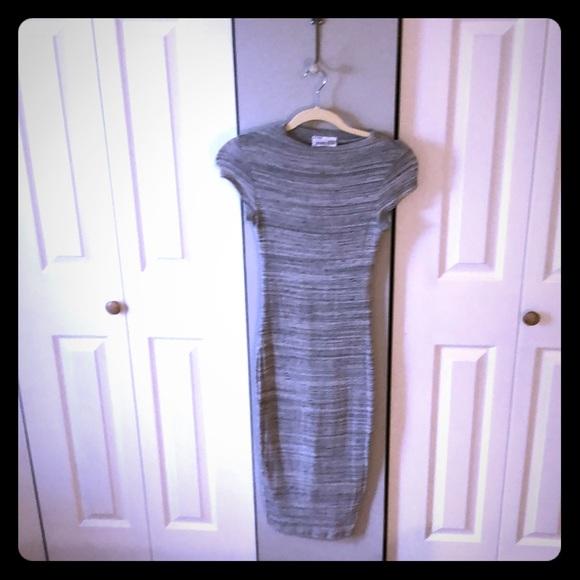 Black Bead Dresses & Skirts - Sweater Calf Length Dress